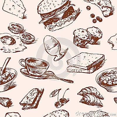 Breakfast foods pattern