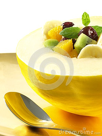 Breakfast with fruits - healthy diet