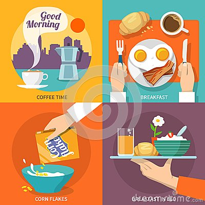 Free Breakfast Icon Flat Stock Images - 47196544
