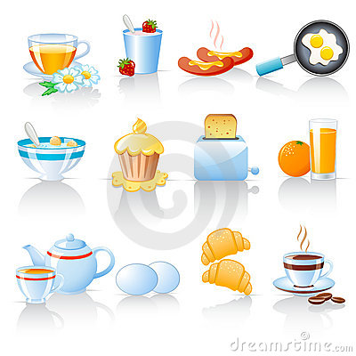 Free Breakfast Icons Stock Image - 16608071