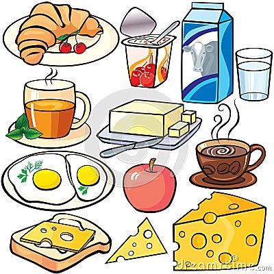 Breakfast Icons Set Stock Photos - Image: 17927453