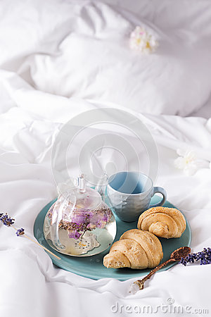 Free Breakfast In Bed Royalty Free Stock Photo - 99013605
