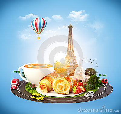 Free Breakfast In Paris Royalty Free Stock Photo - 37611205
