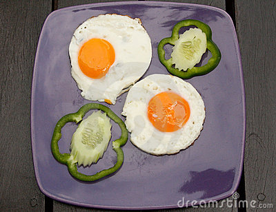 Breakfast Meal, Gonad From Two Eggs Royalty Free Stock Images - Image: 12913529