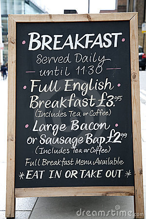 Free Breakfast Menu Stock Photo - 15832510
