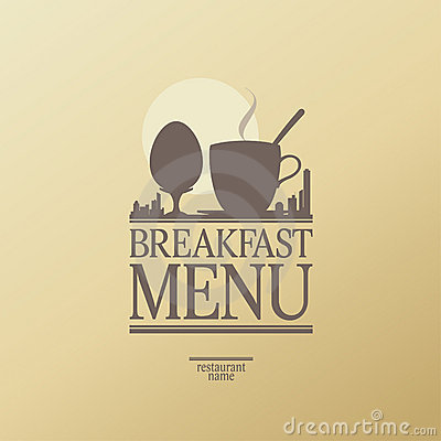 Breakfast menu.