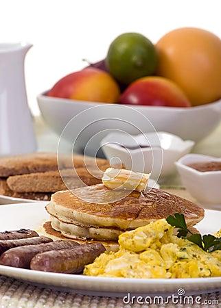 Free Breakfast Pancakes Royalty Free Stock Photography - 2984297