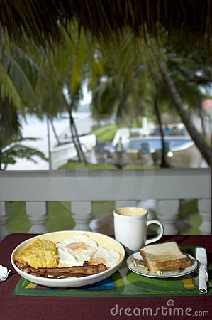 Breakfast at the resort