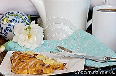 Breakfast Scone In Bed
