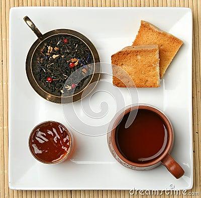Breakfast tea scene