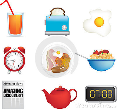 Free Breakfast Time Royalty Free Stock Image - 9644916