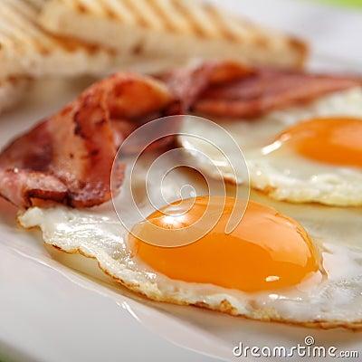 Free Breakfast - Toasts, Eggs, Bacon Royalty Free Stock Image - 7563146