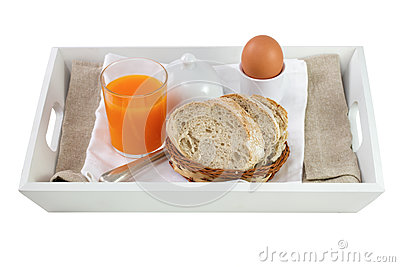 Breakfast on tray