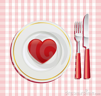 Stock Images: Breakfast on Valentine's Day