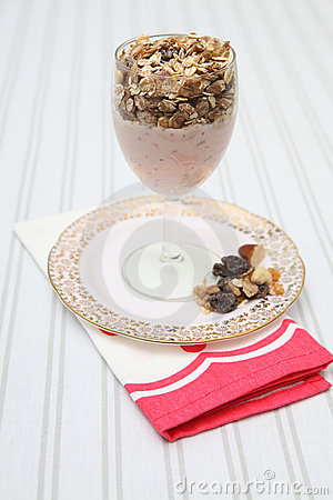 Breakfast yoghurt muesli healthy diet