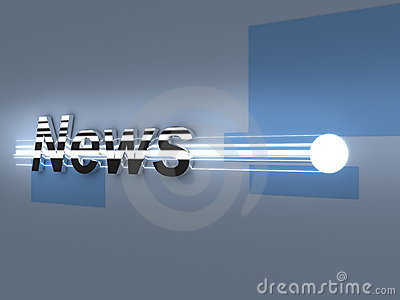 Breaking News 3d metal logo