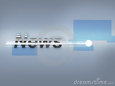 Breaking News 3d metal logo
