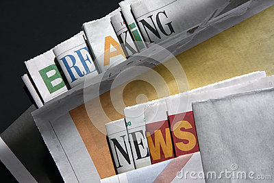 Breaking news on newspapers