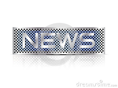 Breaking news text - business sign