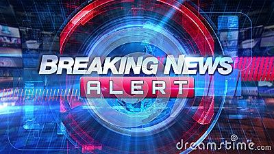 Breaking newsvarning - grafisk titel för TV-sändningTVanimering