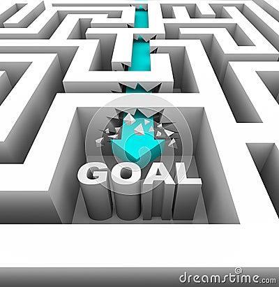 Breaking Through Walls to Reach a Goal