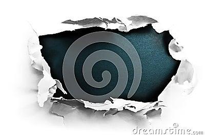 Breakthrough paper hole