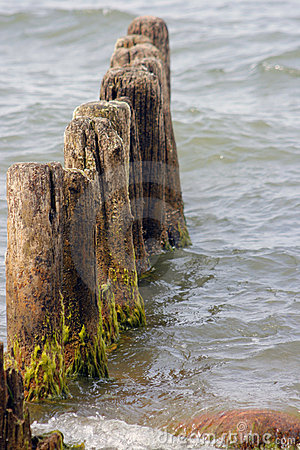 Breakwater remains