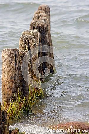 Breakwater remains