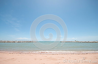 Breakwater At The Sea Royalty Free Stock Photos - Image: 26375078