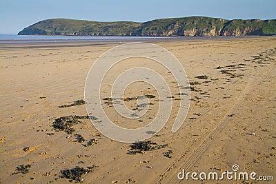 Brean beach and Brean Down Somerset