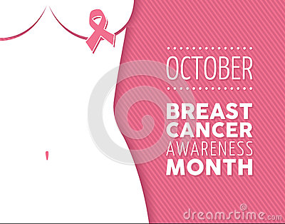 Pink ribbon breast cancer awareness campaign