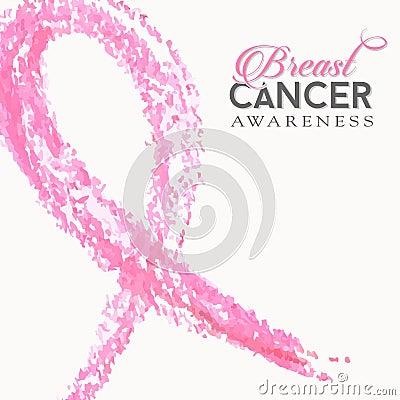 Free Breast Cancer Awareness Pink Ribbon Hand Made Stock Photo - 58818660