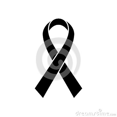 Free Breast Cancer Awareness Ribbon Icon. Symbol Of Women Healthcare. Simple Black Vector Illustration Royalty Free Stock Photos - 112281968