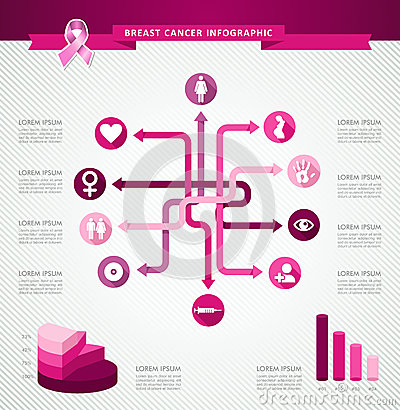Infographic Ideas easy infographic template : Breast Cancer Awareness Ribbon Infographic Template EPS10 File ...