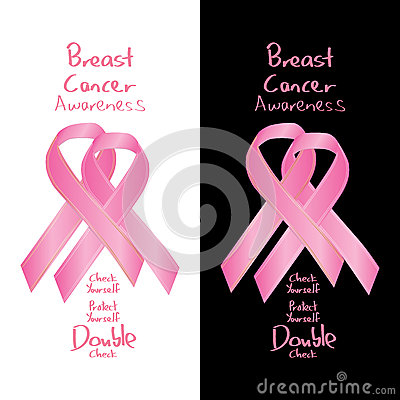 Free Breast Cancer Awareness Ribbon Sign Double Check Stock Image - 60705471