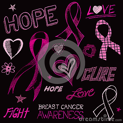 Free Breast Cancer Awareness Sketch Stock Image - 33540141