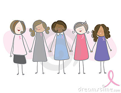 Breast Cancer Awareness - women holding hands