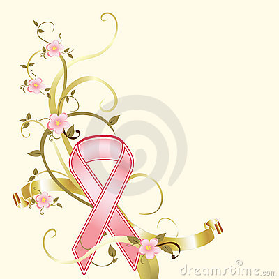 Breast Cancer Pink Ribbon Fundraiser Background