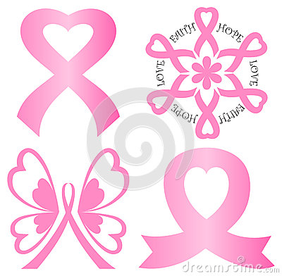 Free Breast Cancer Pink Ribbon Set/eps Stock Image - 24976681
