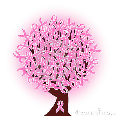 Free Breast Cancer Pink Ribbon Tree Royalty Free Stock Images - 16942749