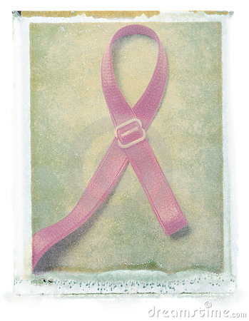Breast Cancer Ribbon (bra strap)