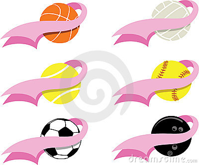 Breast Cancer Sports Icons
