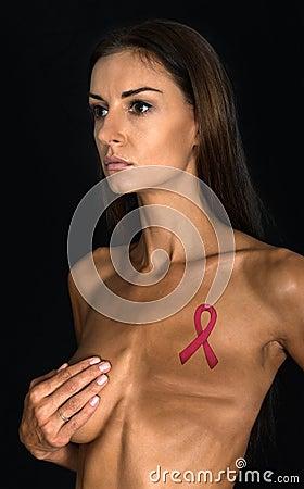 Free Breast Cancer Victim, Mastectomy Surgery Stock Photography - 46152972