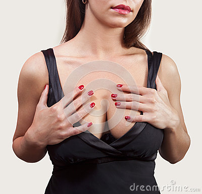Breasted woman