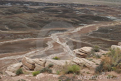 Breathtaking painted desert landscape