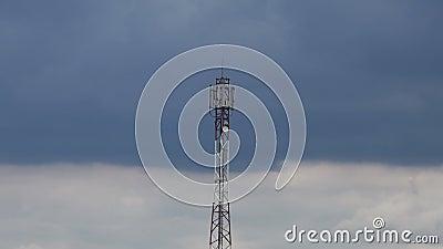 Breite Ansicht der Zeitspanne über Antenne stock video