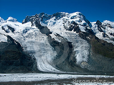 Breithorn in Alps