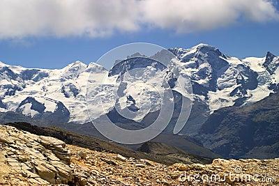 Breithorn peak  - switzerland