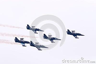 Breitling jet team L39 Editorial Stock Photo