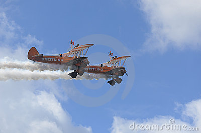 Breitling Wing Walkers Editorial Stock Photo